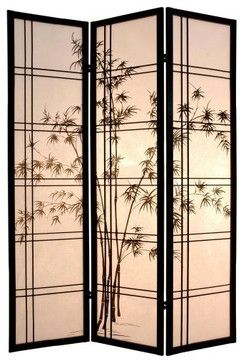 Bamboo tree room divider asian screens and wall - Biombos exterior ikea ...