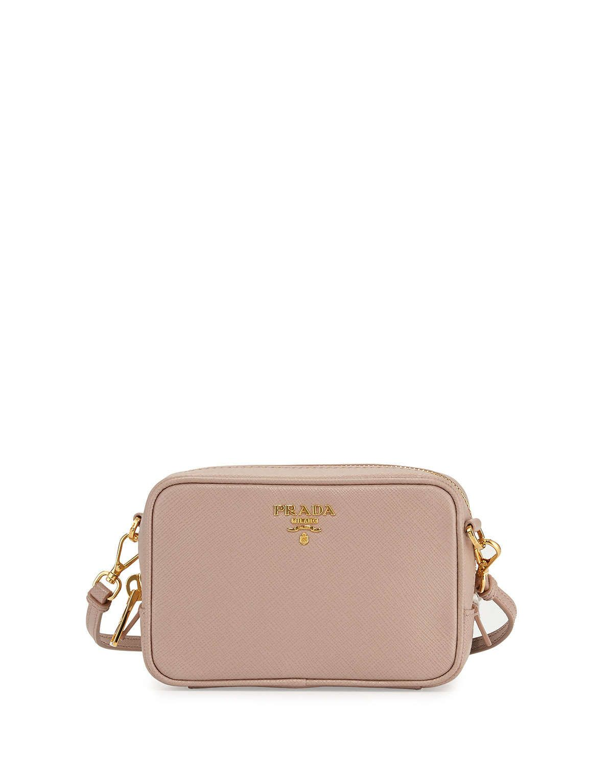 Prada Saffiano Camera Bag Blush