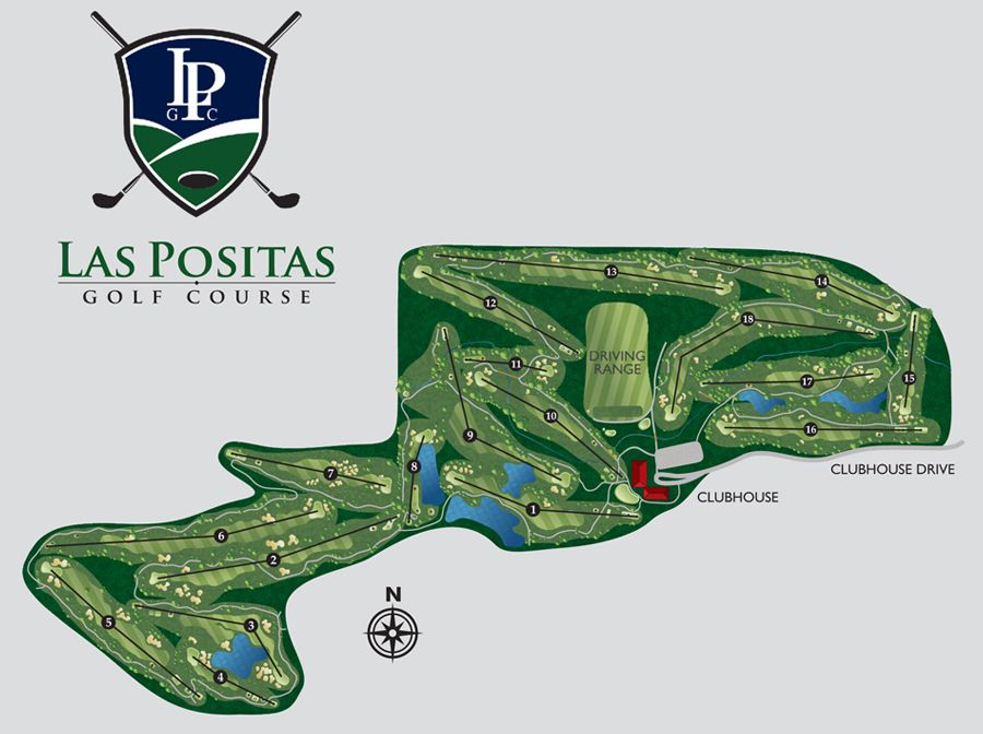 An example of a golf course map illustrated by Bench Craft Company