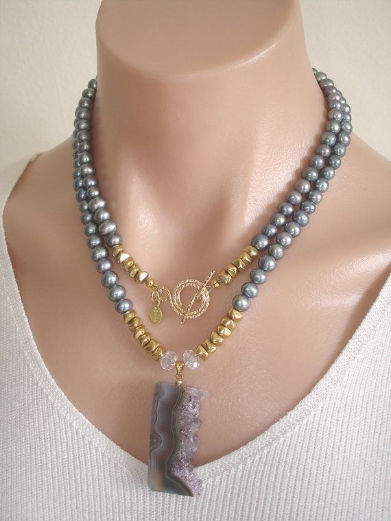 RESERVE  AF  Ashira Fresh Water Peacock Pearls by AshiraJewelry