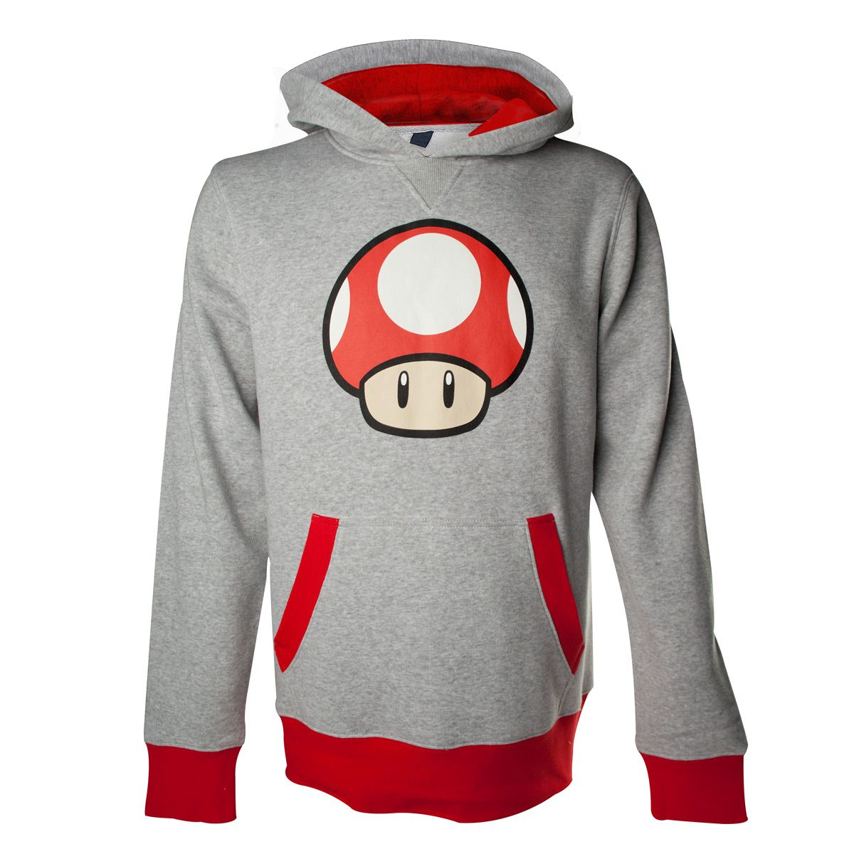Mario Mushroom Hooded Sweatshirt S-XXL # Black Hoody