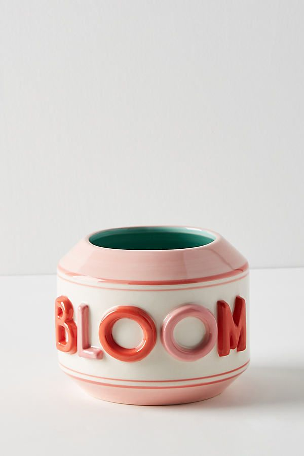 Garden Greeting Pot – Colorful planters