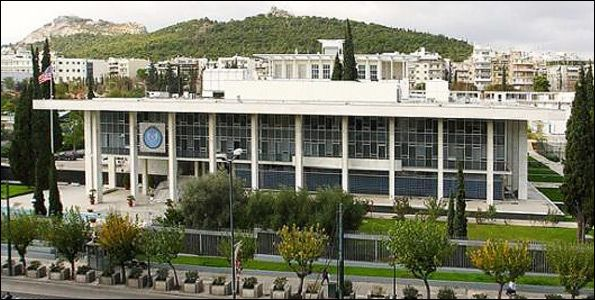 American Embassy V Sofias Avenue Designed By Walter Gropius The Design According To The Architect Himself Was B Athens Athens City Famous Architecture