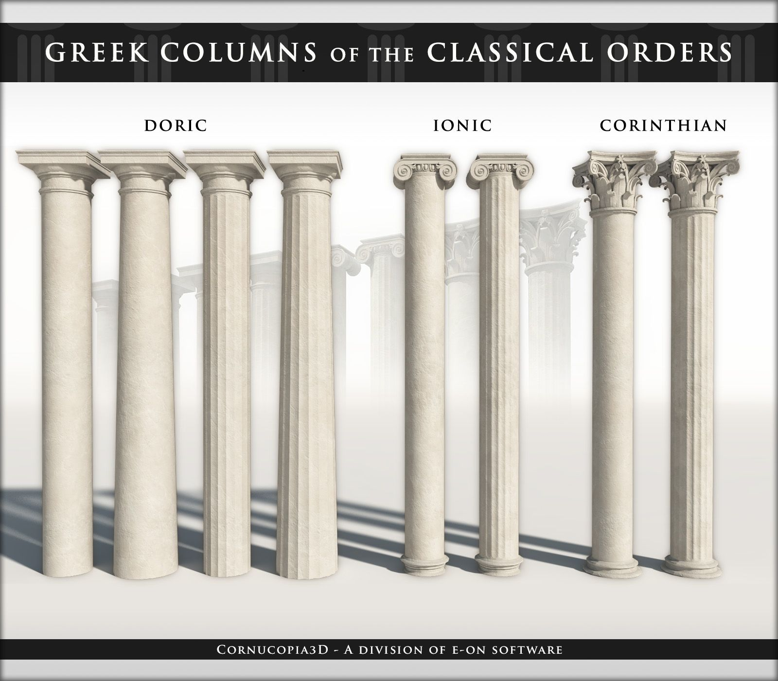 Architecture Greek Columns Of The 3 Classical Orders