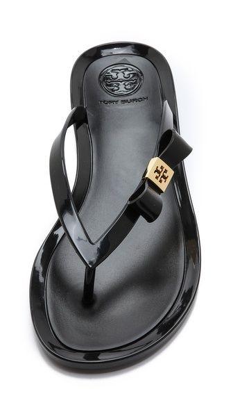 261c2108ebe902 Tory Burch Michaela Bow Jelly Flip Flops Clog Sandals