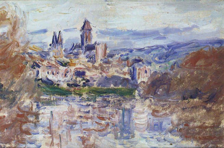 The Village of Vetheuil by Claude Monet