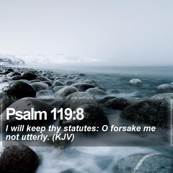 Image result for psalm 119:8 kjv