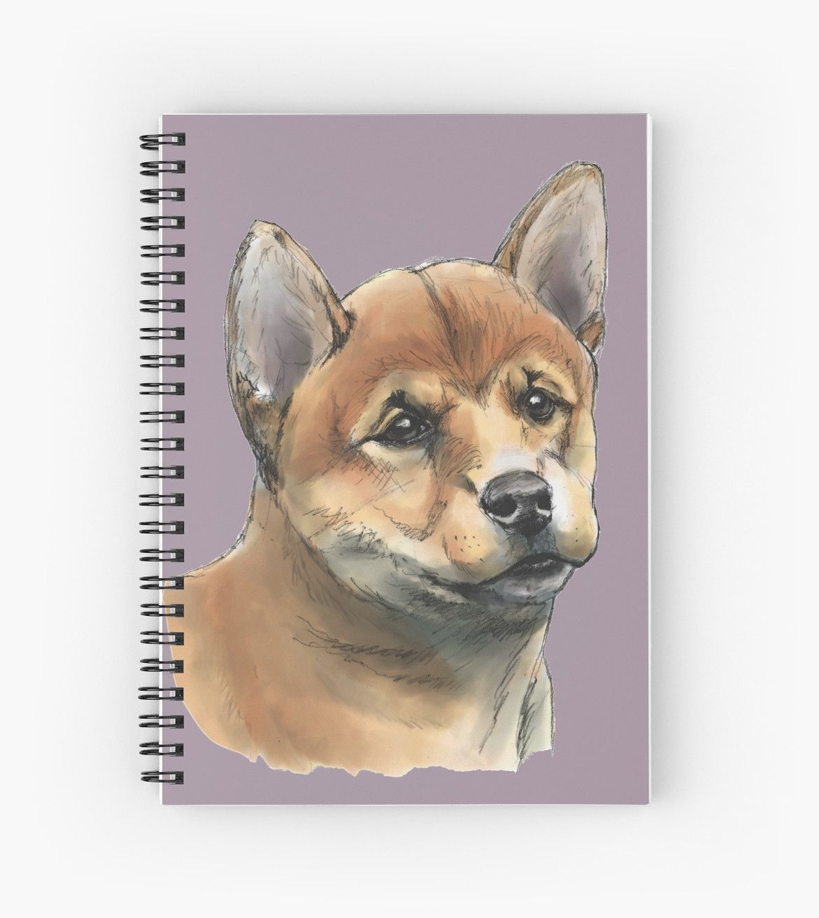 This Is A Rendering Of A Shiba Inu Dog Having A Peaceful Look On Its Face It Was Drawn With Pencil And Then Colored Digitally With Shiba Inu Puppy Drawing Shiba