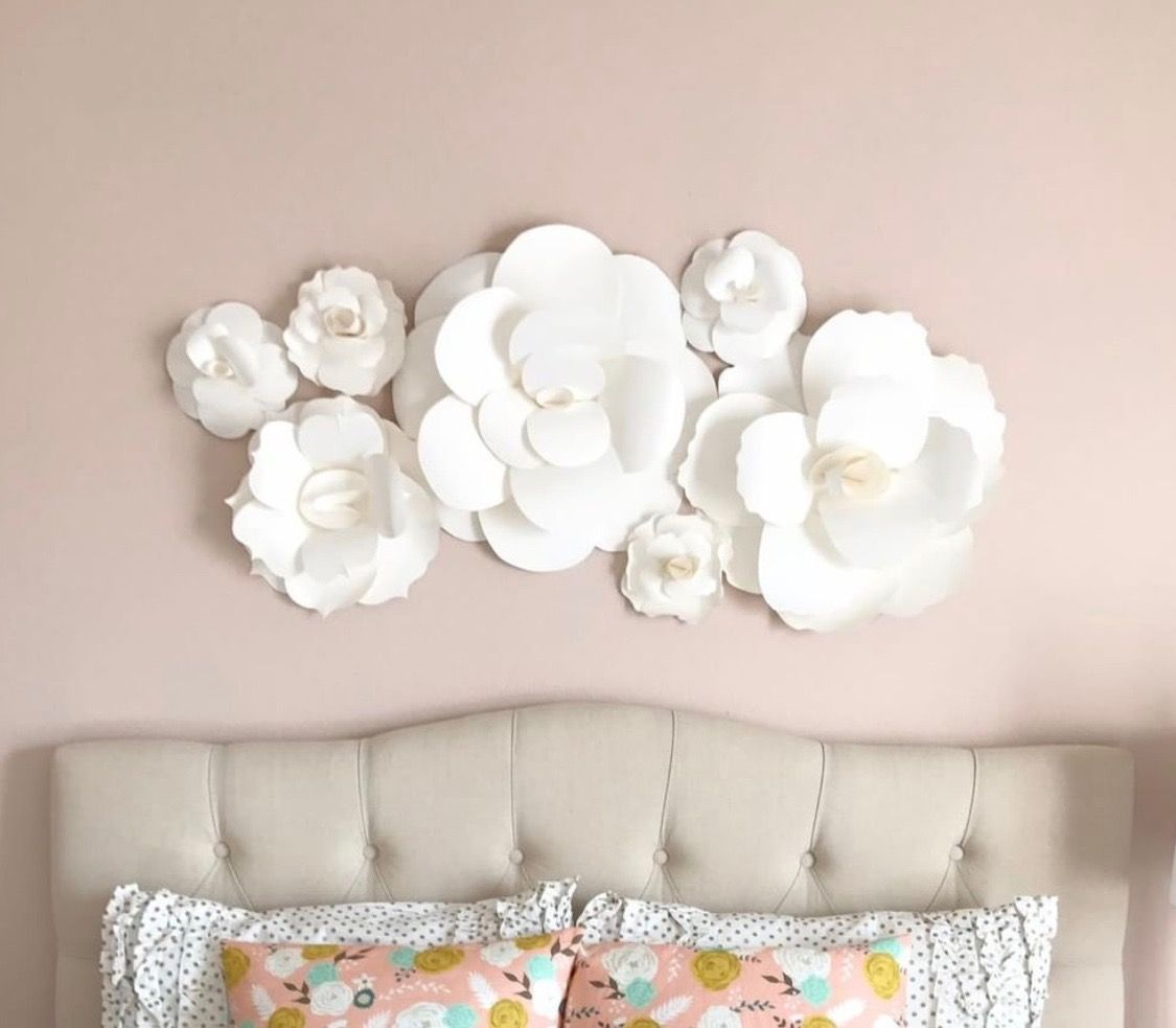 Blooming Bedroom Wall Art Wall Decor Flower Wall Girls Room