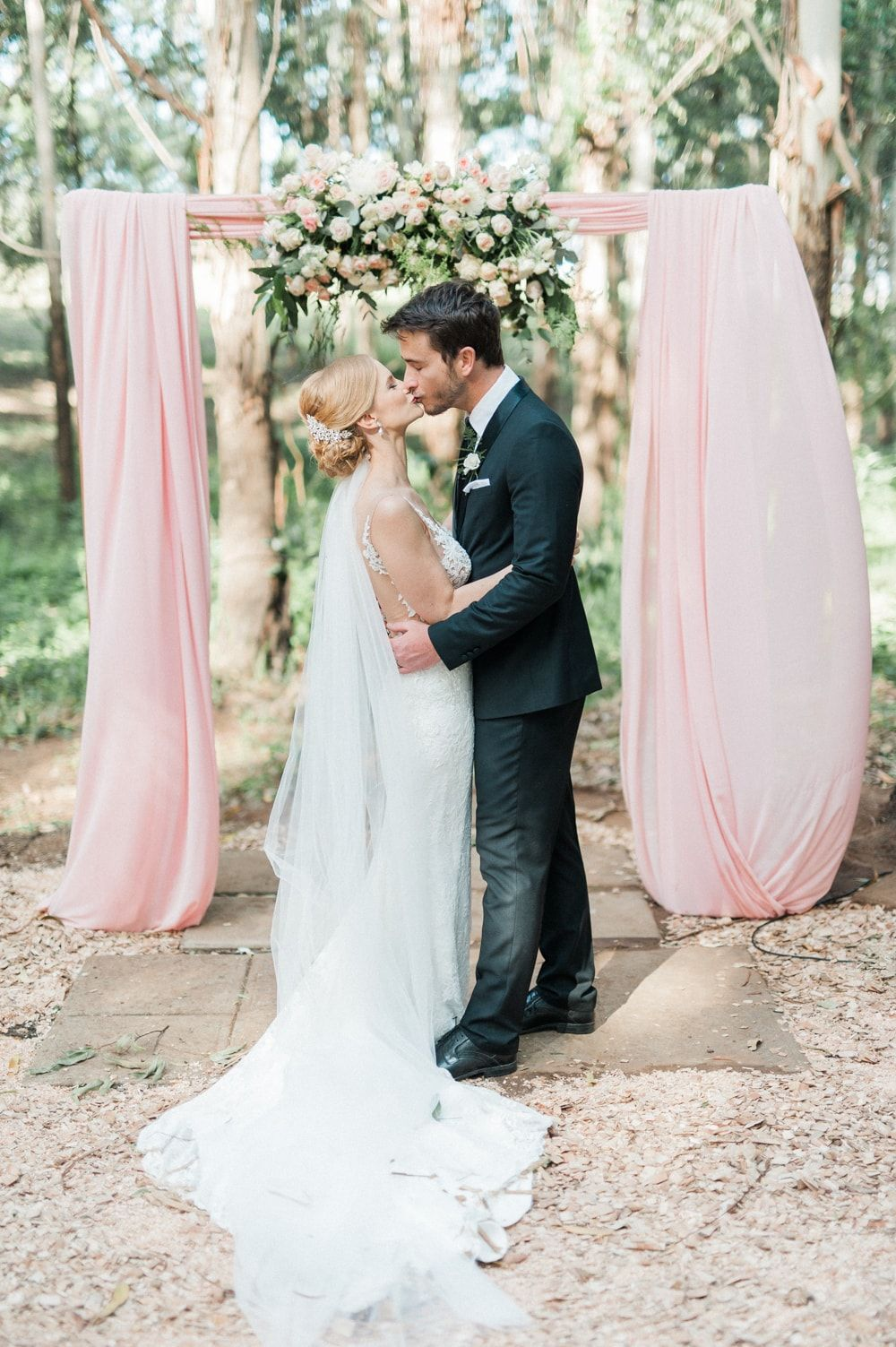 Blush & Rose Gold Wedding at The Venue Fontana by Bright