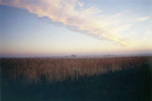 sitoutside:  iowa sunrise  by  manyfires