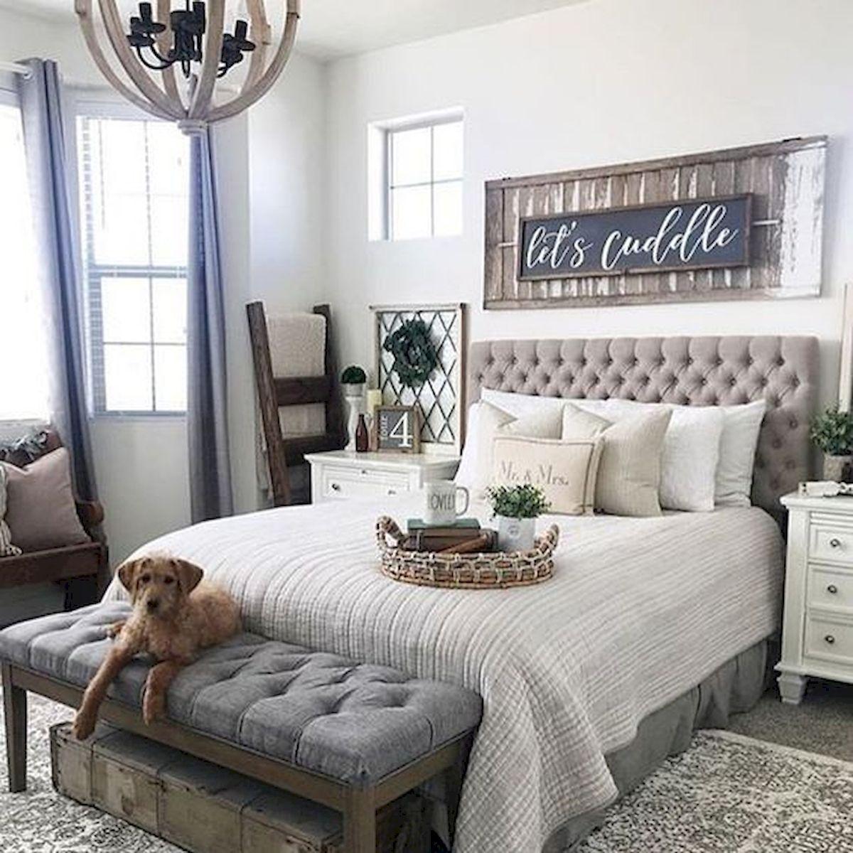 53 Farmhouse Wall Decor Ideas For Bedroom 51 Ideaboz Farmhousebedroomfurnituresets In 2020 Rustic Master Bedroom Master Bedrooms Decor Remodel Bedroom