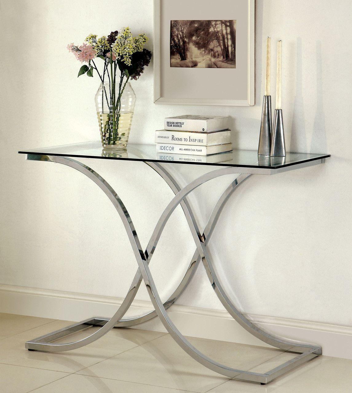 Unique Sofa Tables: CM4233S Sofa Table Luxa Collection With A Unique Base