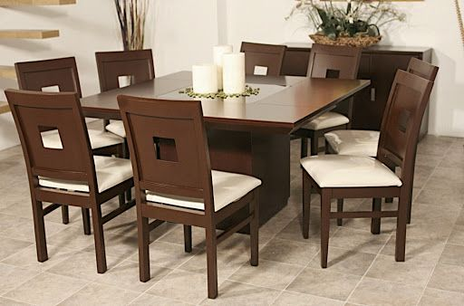 Comedores modernos de madera comedores sillas mesas for Fotos de comedores de madera