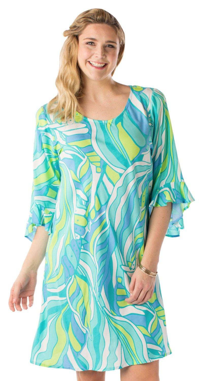 bb8b42d2683 Plus Size 3 4 Sleeve Susan Dress - Escapada Living resort wear