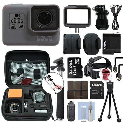 Gopro Hero5 Black Waterproof 4k Camera Camcorder 32gb Accessory Kit 329 95 A Bundle With Hard Case Head Str Waterproof Camera Camcorder