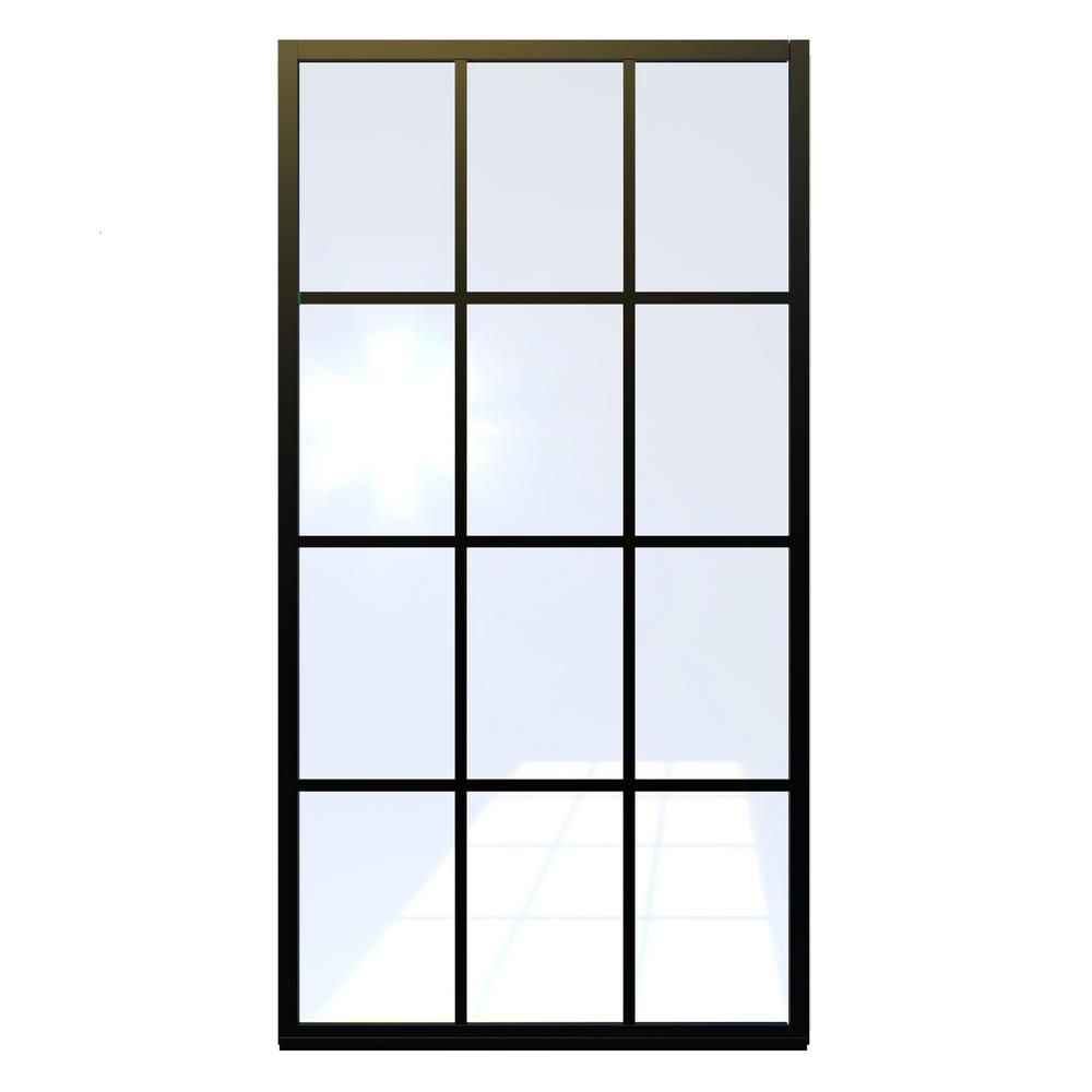 Gridscape Series 30 in. x 75 in. Factory Window Framed Fixed…