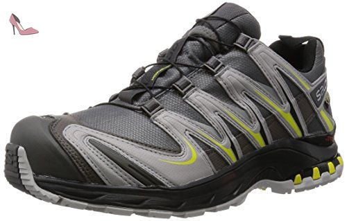 Salomon Speedcross Pro, Chaussures de Trail Homme, Noir (Black/Black/Corona Yellow), 44 EU