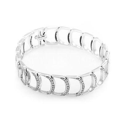 Damiani Damianissima Hinged 18K White Gold Diamond Bracelet