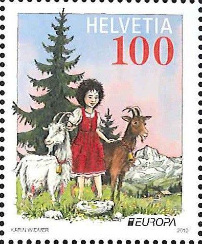 Heidi stamp from Switzerland