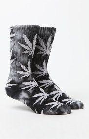 Tie Dye Plantlife Crew Socks