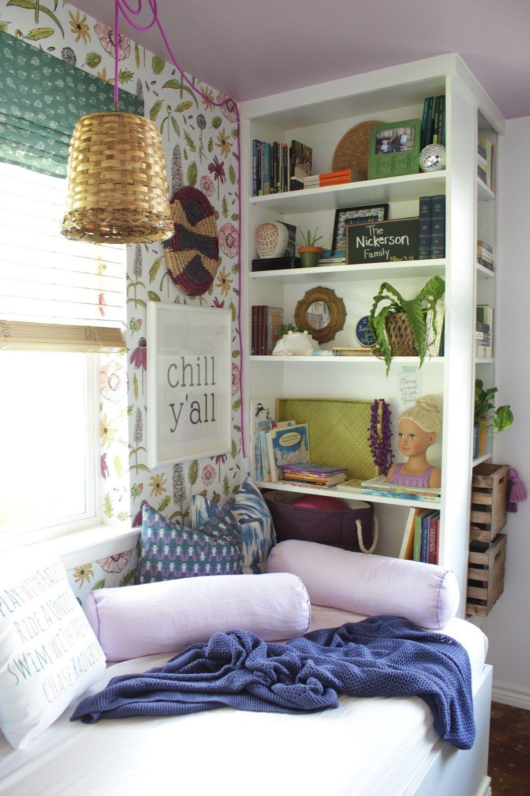 Daybed Reading Nook With Ikea Bookshelves Ikea Hackers Ikea