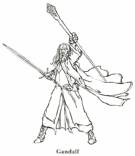 Coloriage Lord of the Rings Le Seigneur des Anneau Gandalf
