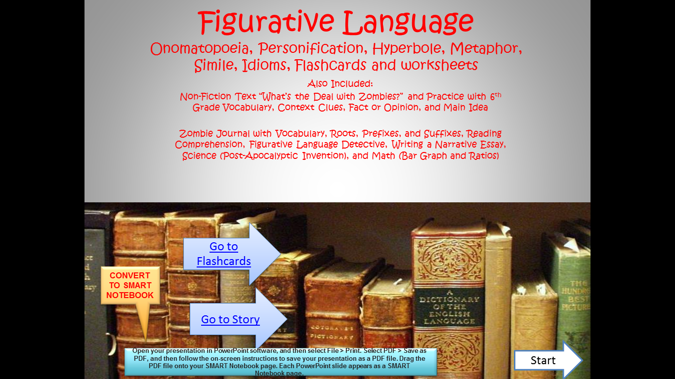 small resolution of Figurative Language Lessons and Interactive Practice BUNDLE!   Figurative  language lessons