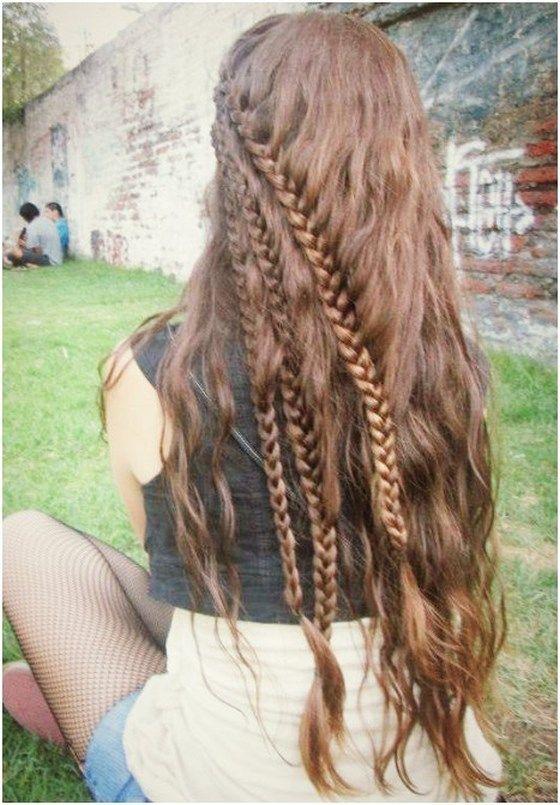 Hermosos peinados pelo rizado para todos los d as - Chicas con trenzas ...