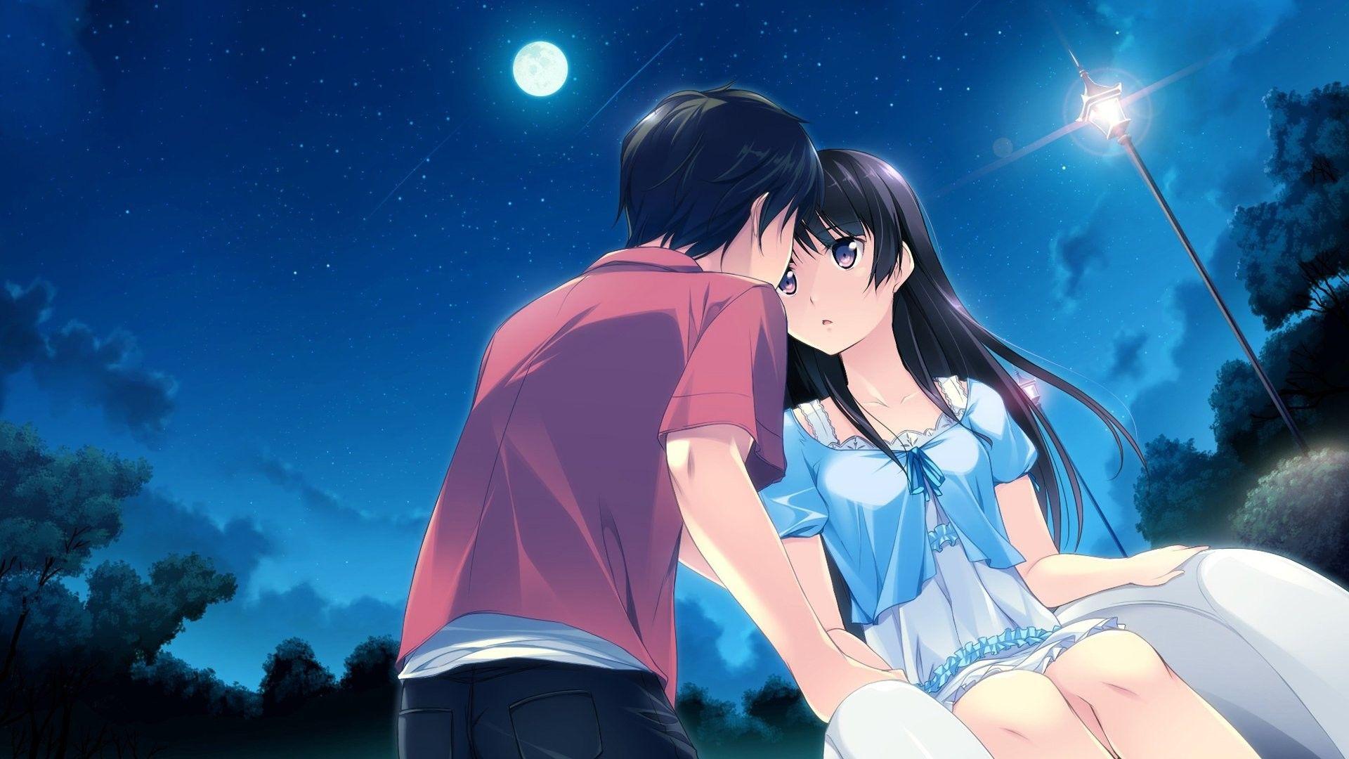 Gambar Anime Romantis Wallpaper Top Anime Wallpaper In 2020 Anime Couple Kiss Romantic Anime Anime Romance