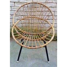 Petit fauteuil corbeille en canne de rotin #petit #fauteuil ...