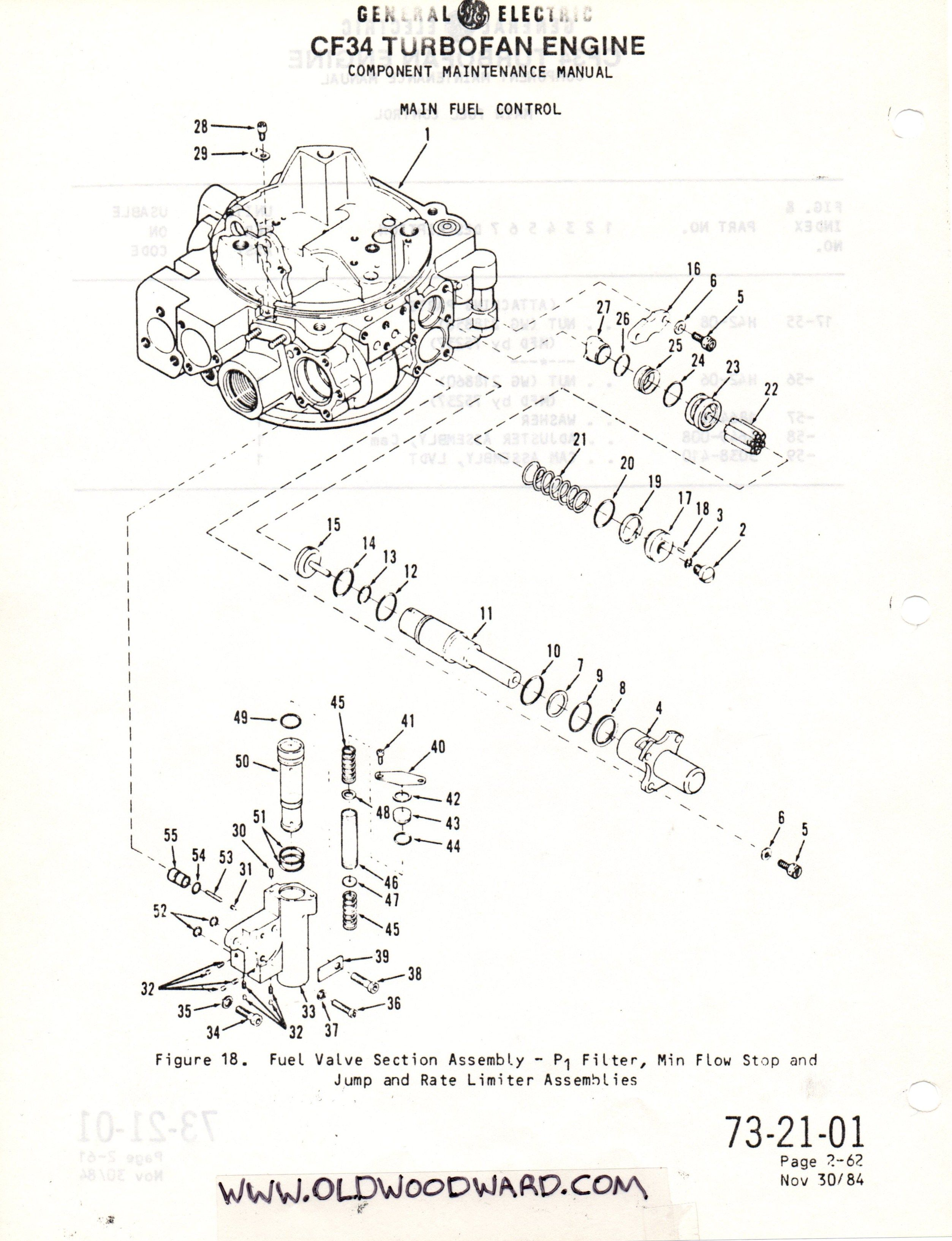 woodward governor company main engine control component training manual schematic drawing woodward governor  [ 2506 x 3266 Pixel ]