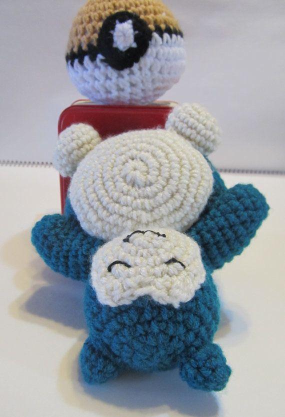 Snorlax Pokemon Amigurumi by tiffamis on Etsy, $25.00 | Knitting and ...