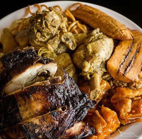 Wondrous Caribbean Lunch Buffet Jerk Chicken Curry Chicken Sweet Download Free Architecture Designs Momecebritishbridgeorg