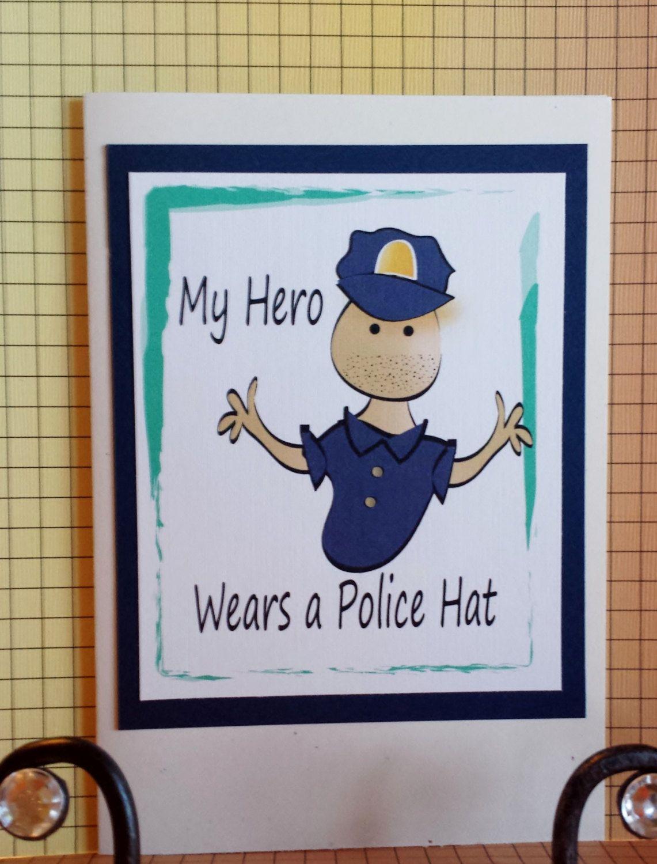 Policeman Birthday Card Funny Police Birthday Card Hero Birthday