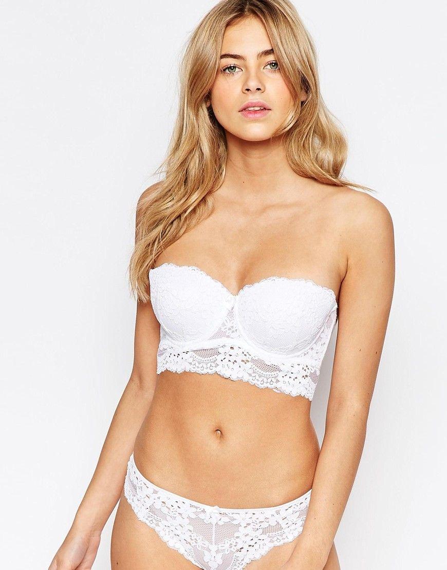 New Look Lace Longline Strapless Bra | Class - lingerie ...