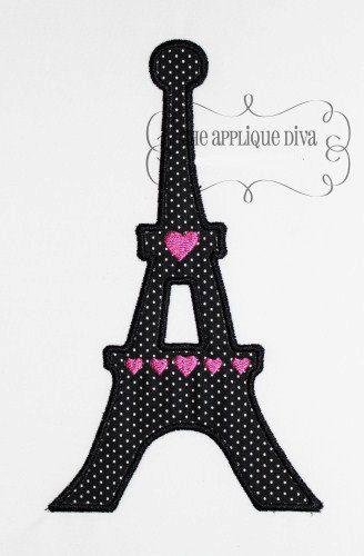 Paris Eiffel Tower Embroidery Design Machine Applique Etsy Finds