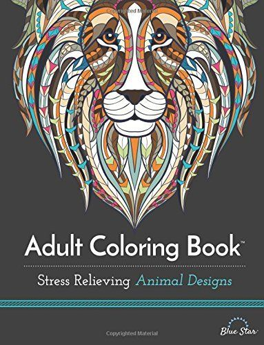 Adult Coloring Book Stress Relieving Animal Designs Amazon