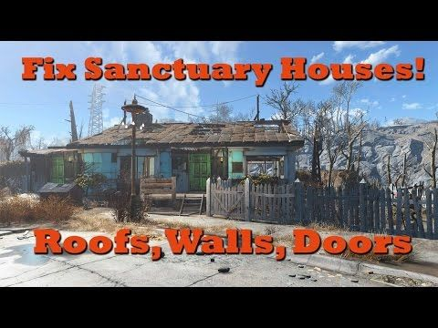 Fix Sanctuary Houses Add Roofs Walls Doors Fallout 4 Tips Tricks Ep 1 Youtube Fallout 4 Tips Sanctuary House Fallout 4 Secrets