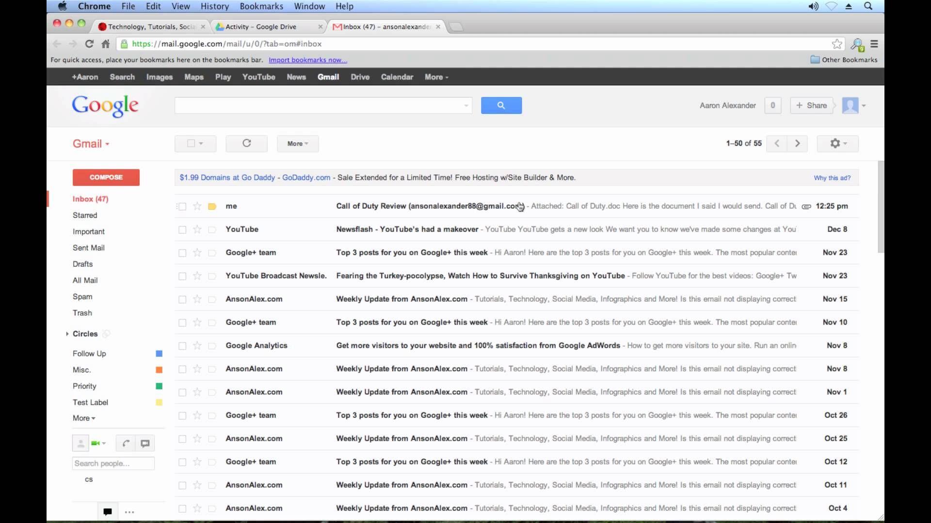 Google drive tutorial 2013 sharing files and folders 3