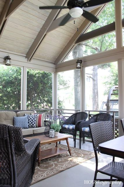 Screen Porch Retreat House With Porch Porch Ceiling Screened Porch