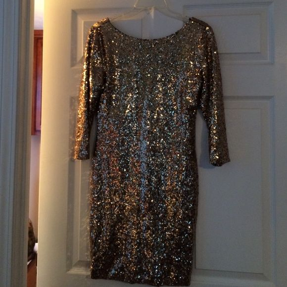 13362c0117 Gianni Binni Gold Sequin Dress New without tags. Size M Gianni Bini Dresses  Long Sleeve