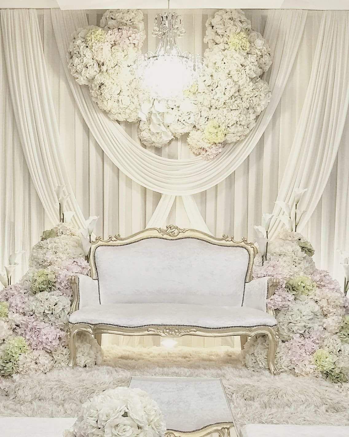 Wedding Nikah Simple Backdrop Decoration Muslim: PELAMIN BUNGA PUTIH 2018 In 2019