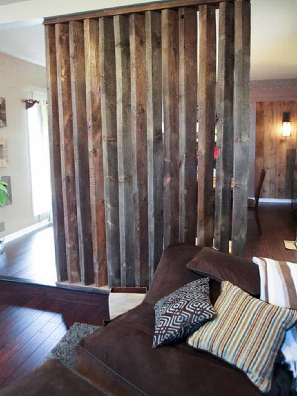 Diy divider made of old wooden idea interior unique room divider