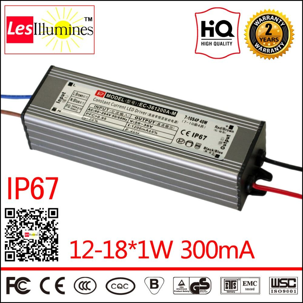 Waterproof Led Driver Transformer Ip67 Ce Rohs Approval Ac Dc 1w Constant Current 30 62v 300ma 12 181w Power Supply