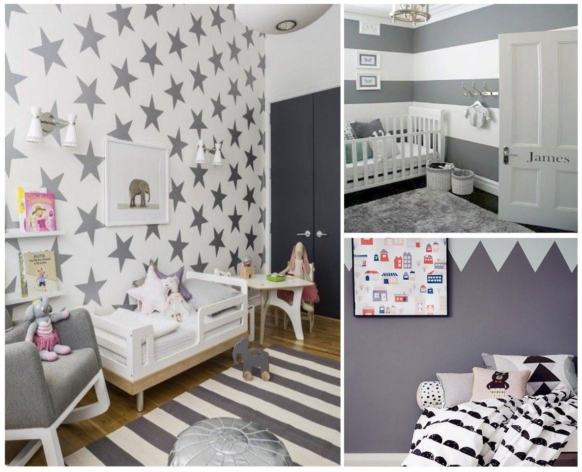 Blanco Y Gris Estrellas Ideas Para Mi Casa Ellos Pinterest  ~ Habitacion Bebe Niña Gris Y Rosa