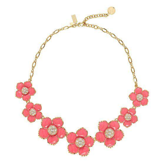 KS enamel garden necklace