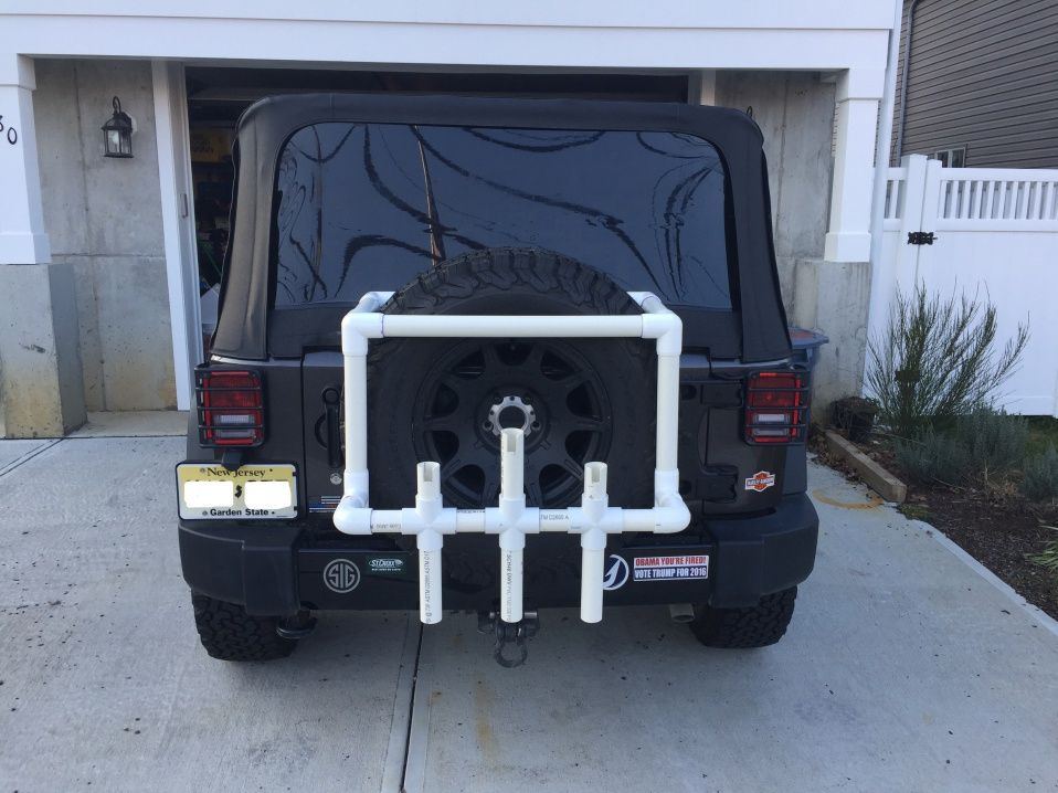 Surf rod holders pvc for Jeep fishing rod holder
