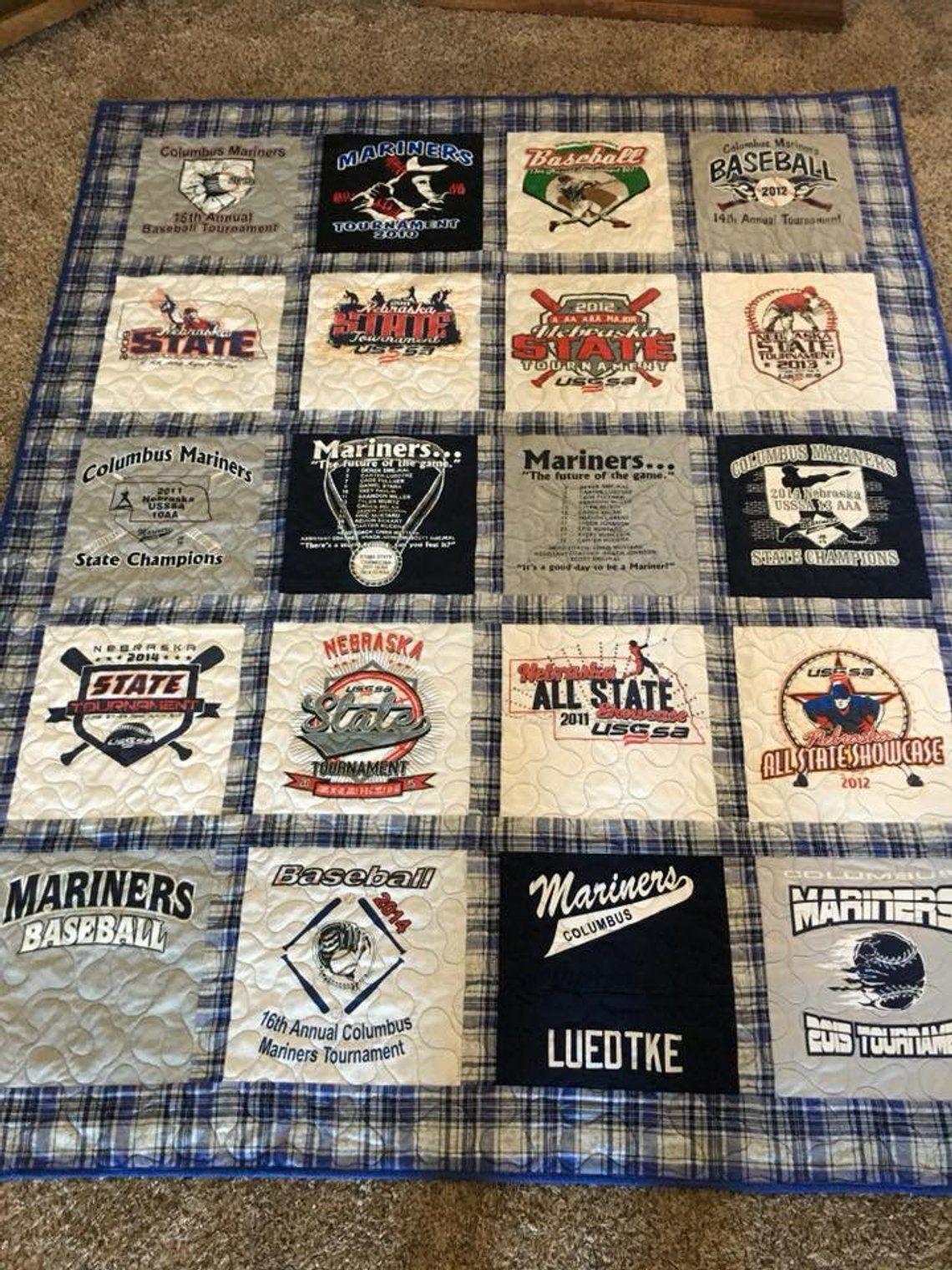 T shirt quilt-Tee shirt quilt-T-shirt quilt-T shirt blanket-T-shirt quilts-custom Tshirt quilt-Jersey quilt-Tee shirt blanket-DEPOSIT ONLY!