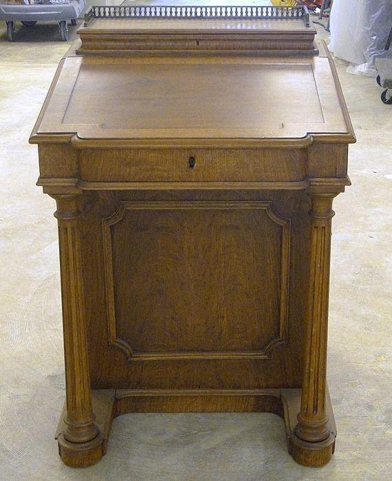 Ship Captains Antique Writing Desk Nautical Maritime 1800s Refinished Restored Antique Writing Desk Antique Desk Antiques